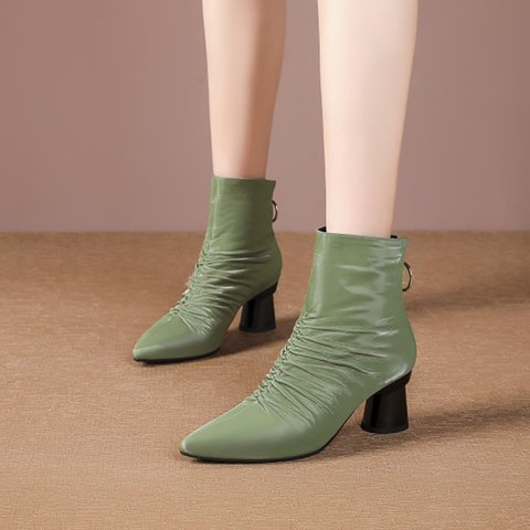 Women Date Winter Ruched Boots