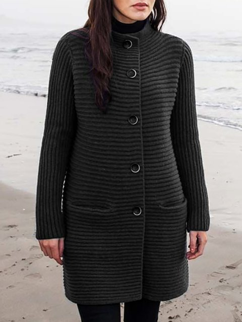 Casual Knitted Long Sleeve Outerwear
