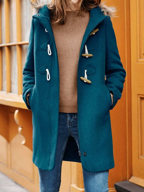 Cotton-Blend Hoodie Long Sleeve Outerwear