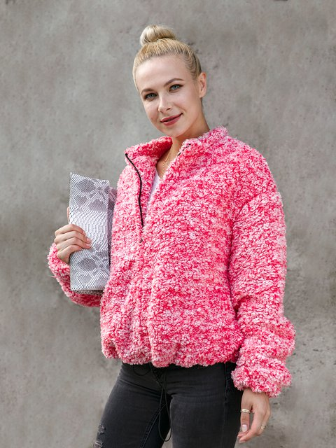 Coral Velvet Long Sleeve Outerwear