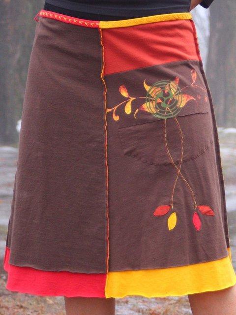 Vintage Floral-Print Casual Skirts