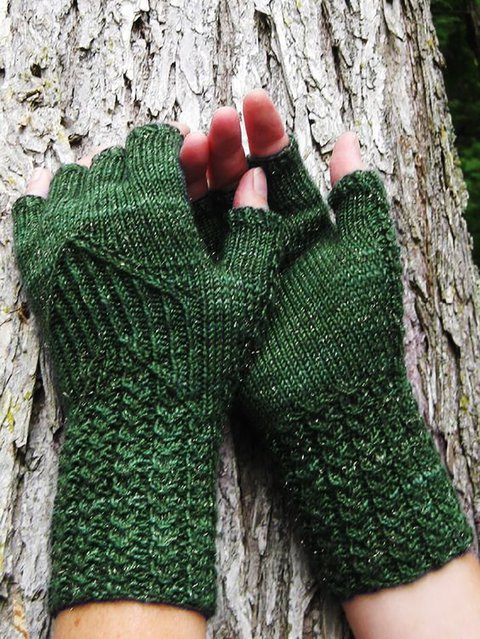 Plain Knitted Simple & Basic Gloves & Mittens
