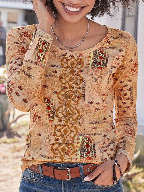Women Long Sleeve Cotton Sweet Tops