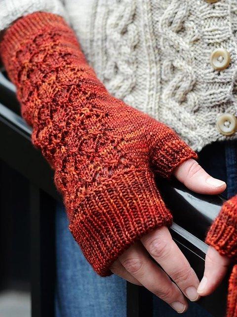 Basic Plain Knitted Gloves & Mittens