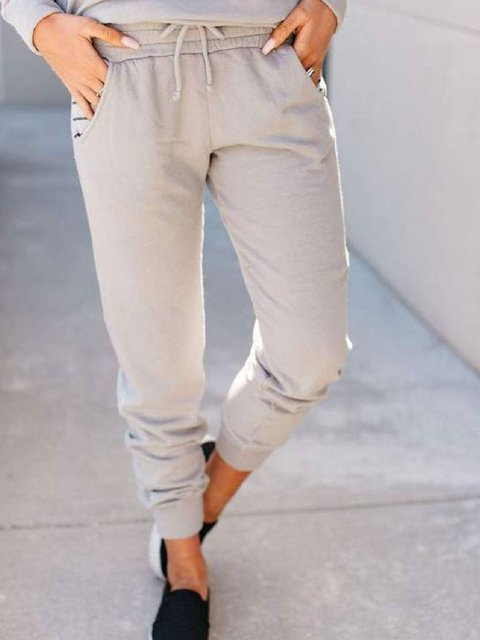 Apricot Casual Cotton-Blend Pants