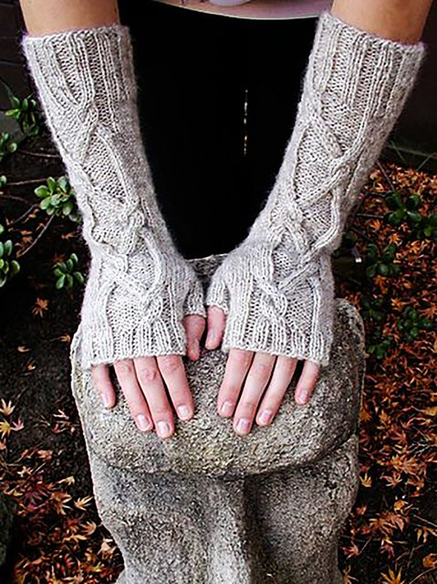 Knitted Simple & Basic Plain Gloves & Mittens