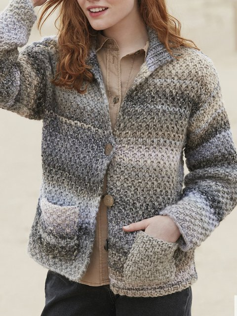 Vintage Long Sleeve Buttoned Sweater