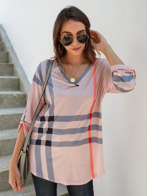 Checkered/plaid Shift Holiday Long Sleeve Shirts & Tops