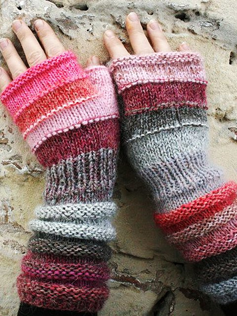 Simple & Basic Knitted Gloves & Mittens