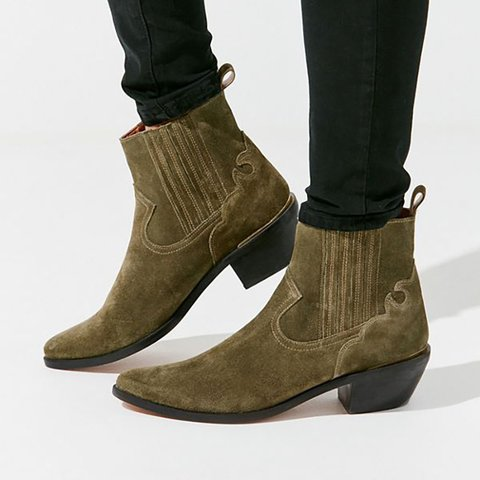 Faux Suede Casual Solid Chunky Heel Boots