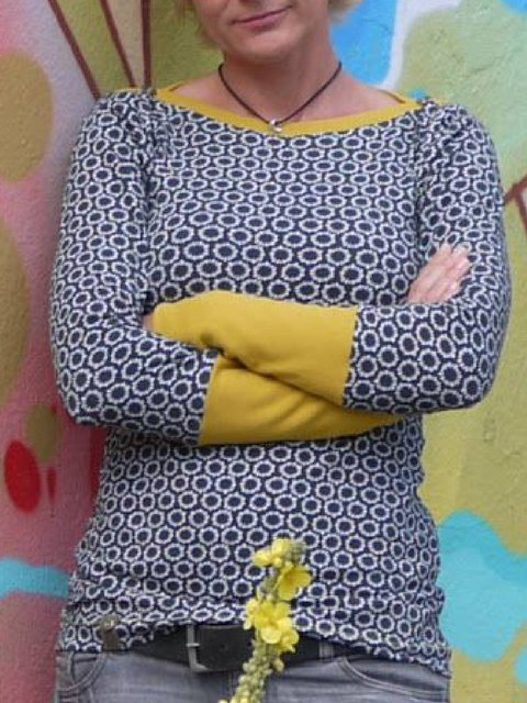 Multicolor Long Sleeve Casual Round Neck Shirts & Tops