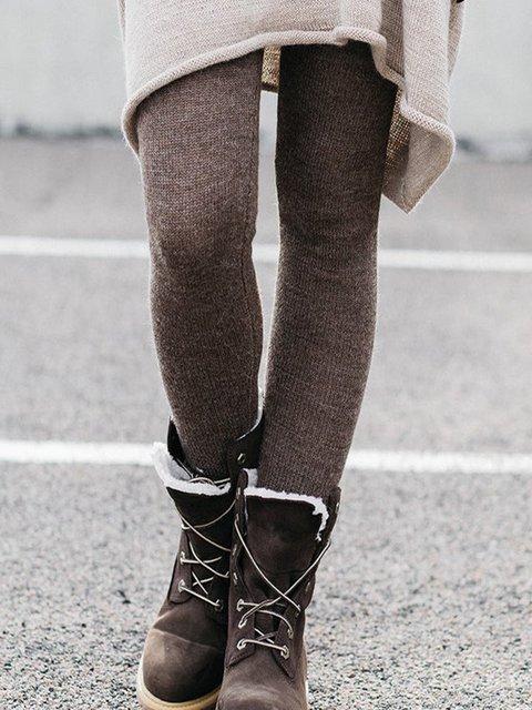 Plus size thick warm leggings  Casual Cotton Pants