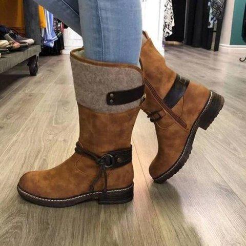 Comfy Low Heel Mid-calf Boots