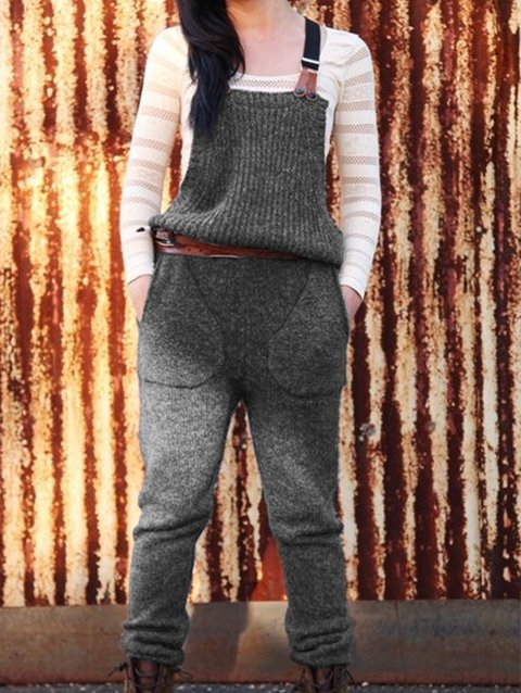 Knitted Holiday Plain Pants