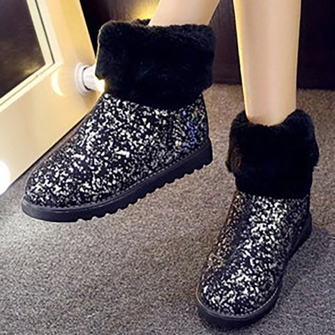 Silver Winter Pu Daily Boots