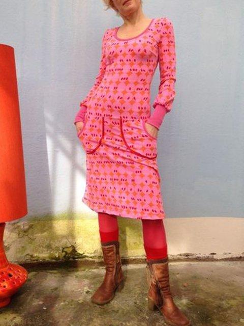 Floral Printed Long Sleeve Dresses