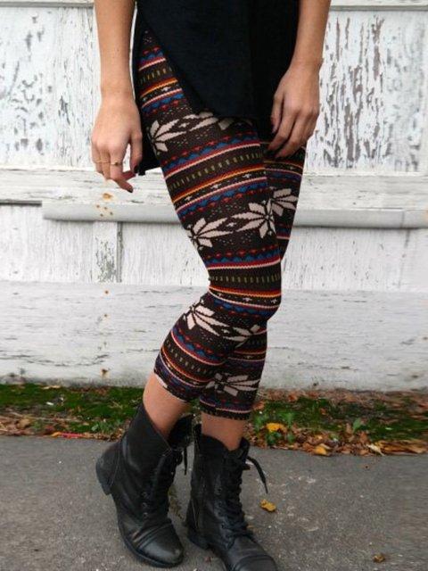 Multicolor Floral-Print Vintage Sheath Pants