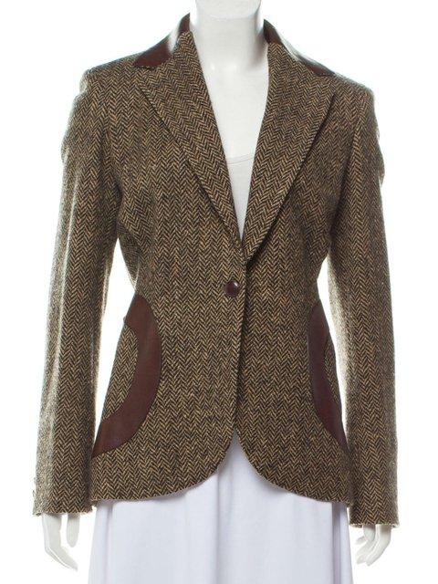 Solid Blazer Plus Size Paneled Coat