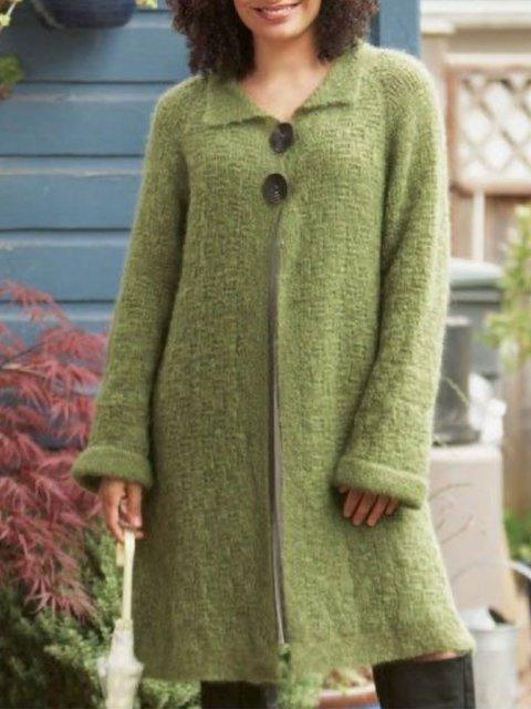 Solid Shift Cotton-Blend Outerwear