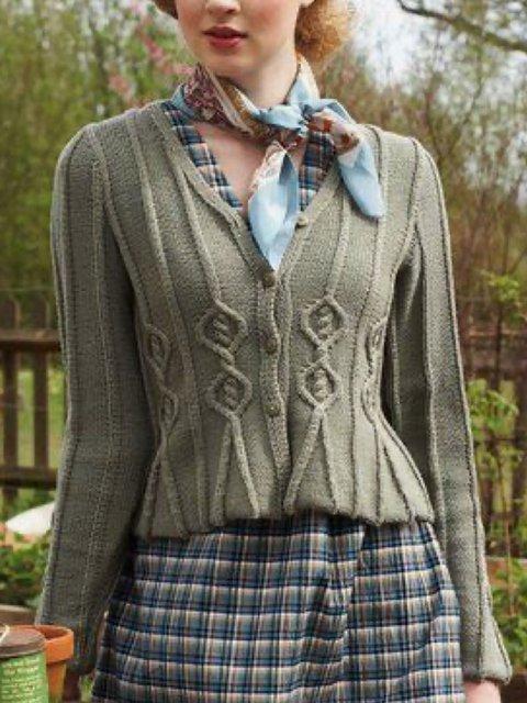 Cotton-Blend Vintage Sweater