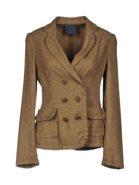 Women Pockets Buttoned Vintage Blazers