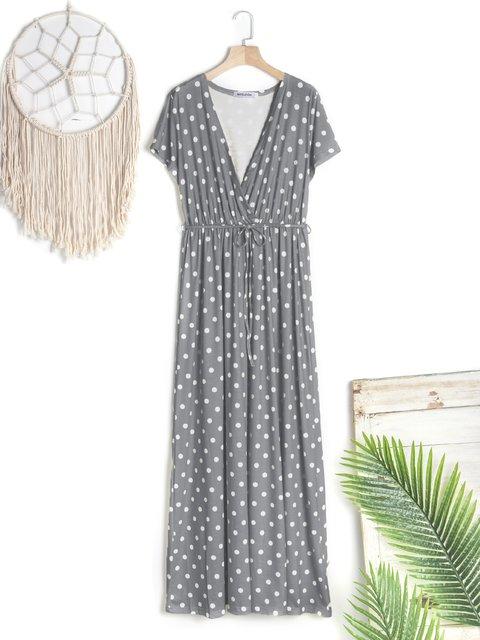 Cotton Sweet Short Sleeve Vacation Dresses