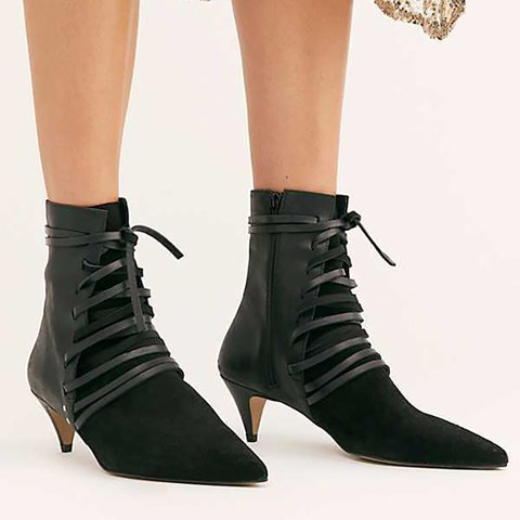 Daily Faux Suede Fall Cone Heel Boots