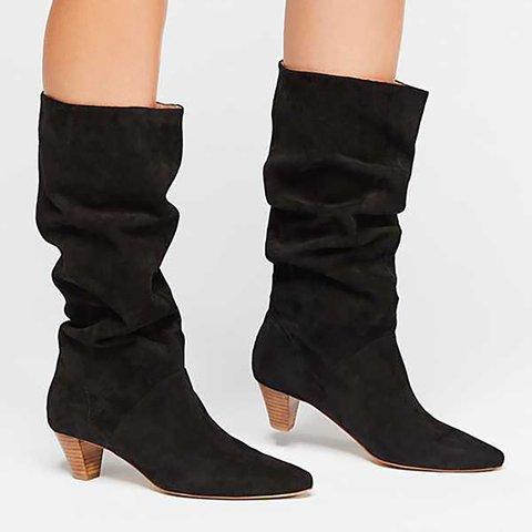 Cone Heel Casual Fall Mid-Calf Boots