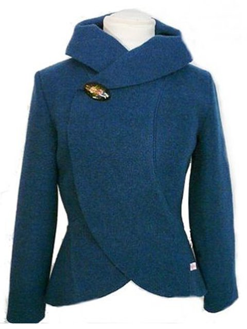 Deep Blue Tweed Vintage Outerwear