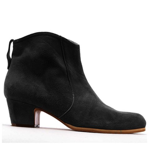 Zipper Faux Suede Ankle Booties