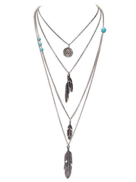 Blue Alloy Necklaces