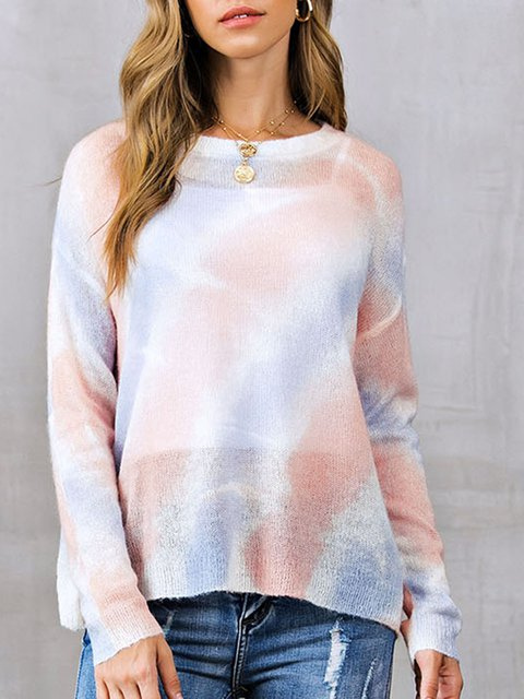Crew Neck Casual Sweater
