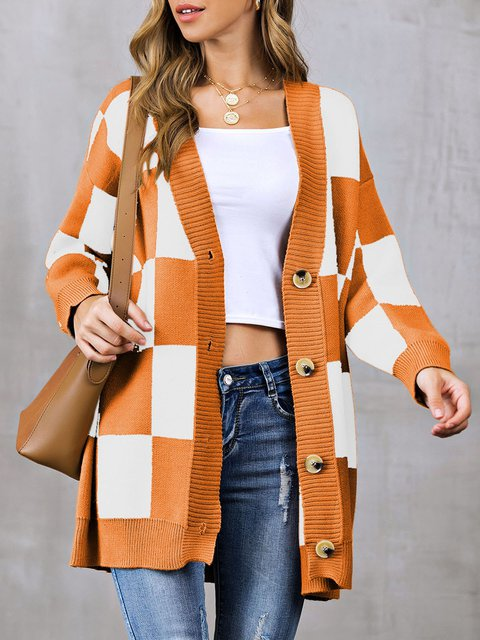 Shift Casual Long Sleeve V Neck Sweater