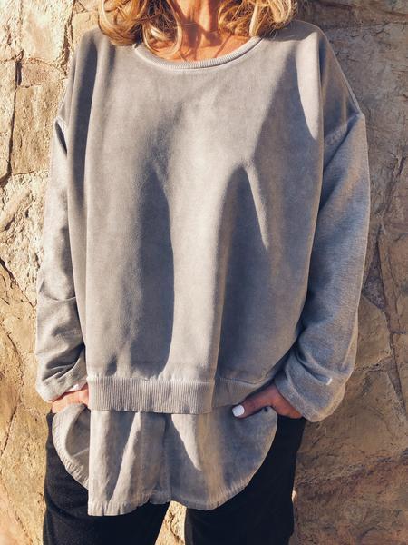 Crew Neck Vintage Long Sleeve Sweatshirt