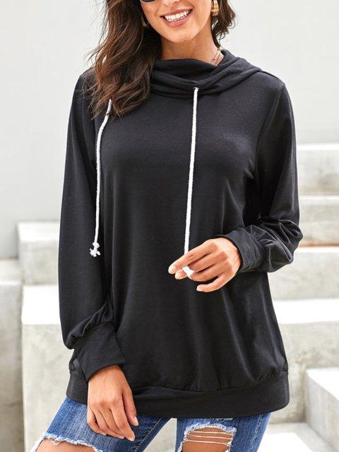 Casual Plus Size Long Sleeve Hoodie Sweatshirt
