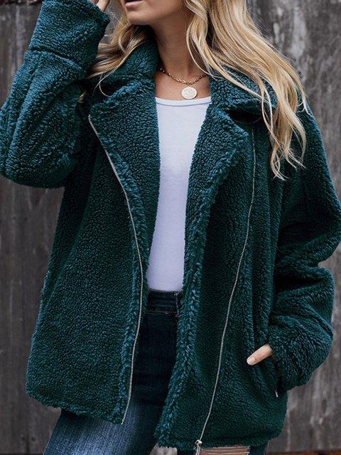 Casual Plus Size Lapel Outerwear Coat