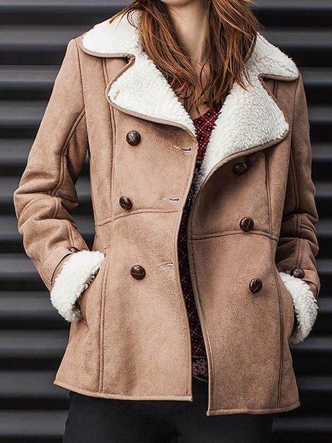 Buttoned Vintage Faux Fur Outerwear