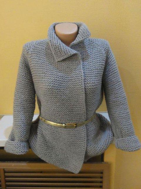 Plus Size Women Solid Vintage Sweater Cardigans