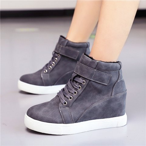 Lace-Up Pu Casual Winter Sneakers