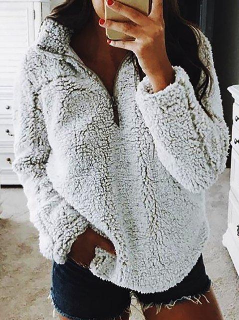 Holiday Plain Shift Long Sleeve Outerwear