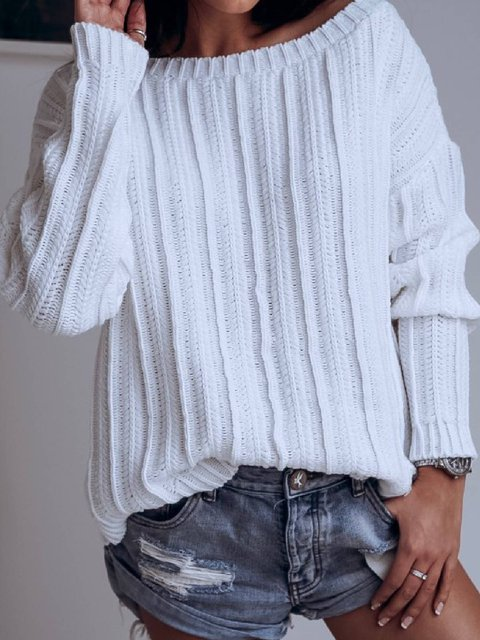 Cotton-Blend Sexy Sweater