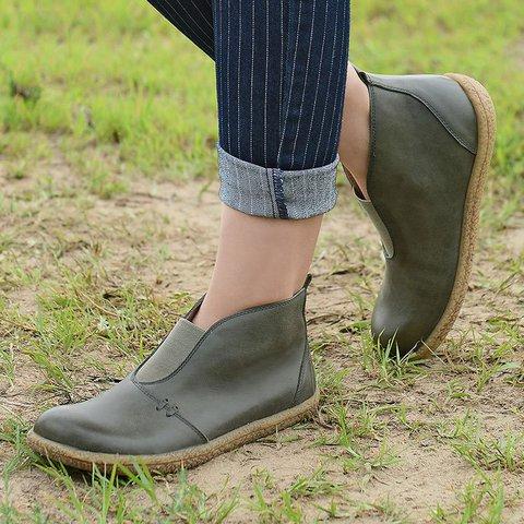 Flat Heel All Season Pu Elastic Band Boots