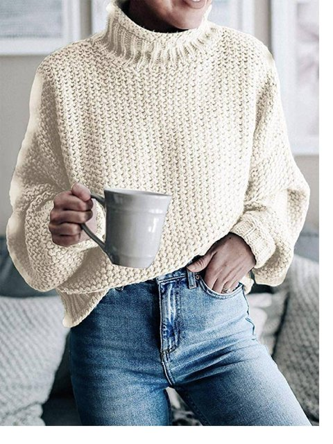 Long Sleeve Stand Collar Sweater