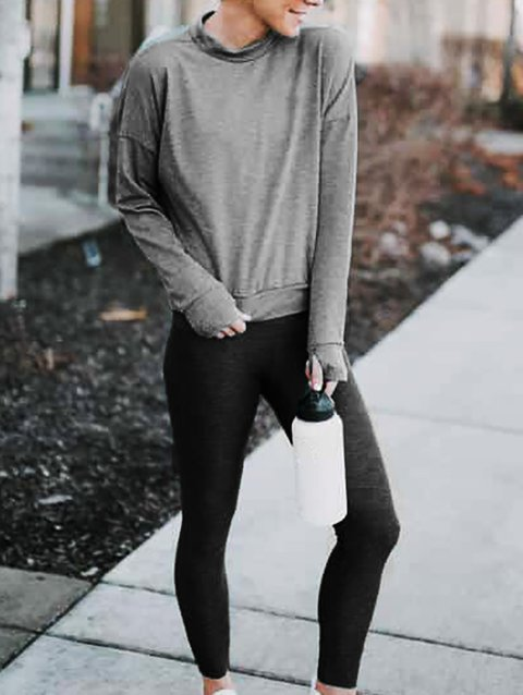 Shift Casual Long Sleeve Knitted Suits