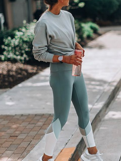 Long Sleeve Simple & Basic Knitted Suits