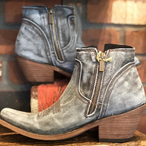 Vintage Zipper Chunky Heel Winter Ankle Boots