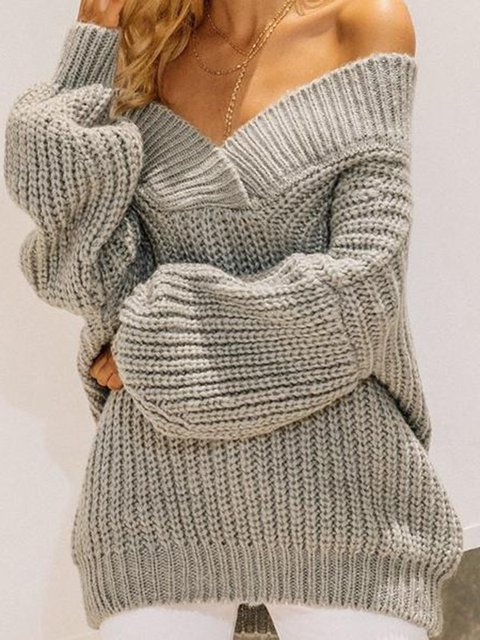 Casual Wool Blend Sweater