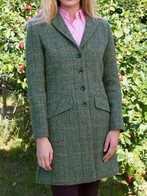 Buttoned Long Sleeve Vintage Outerwear