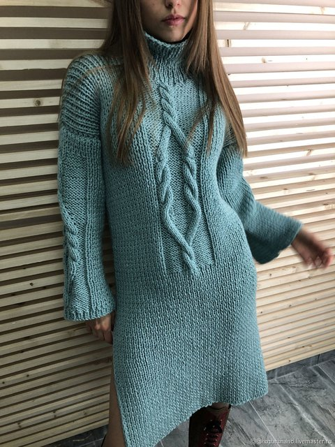 Vintage Turtle Neck Solid Knitted Sweater
