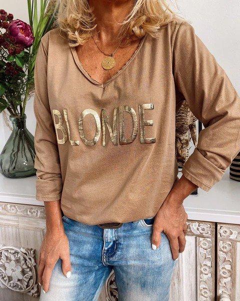 Cotton-Blend Long Sleeve Crew Neck Shirts & Tops